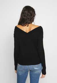 JDY - JDYSTACEY CPOPPED - Jumper - black - 2
