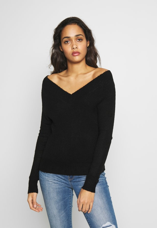 JDYSTACEY CPOPPED - Pullover - black