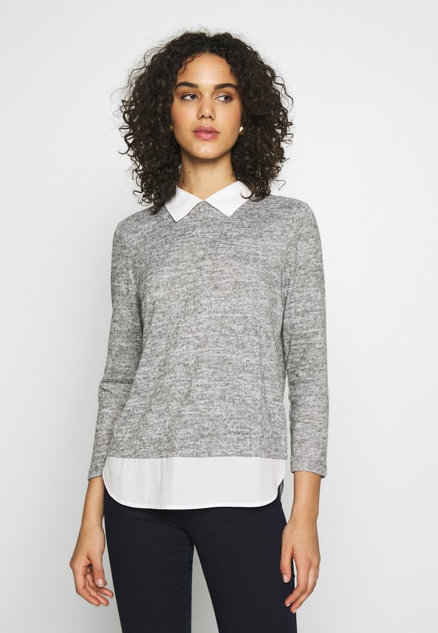 JDYCHOICE TREATS MIX COLLAR - Strikpullover /Striktrøjer - light grey melange