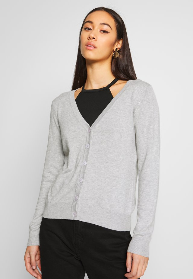 JDYAGNES - Strikjakke /Cardigans - light grey melange