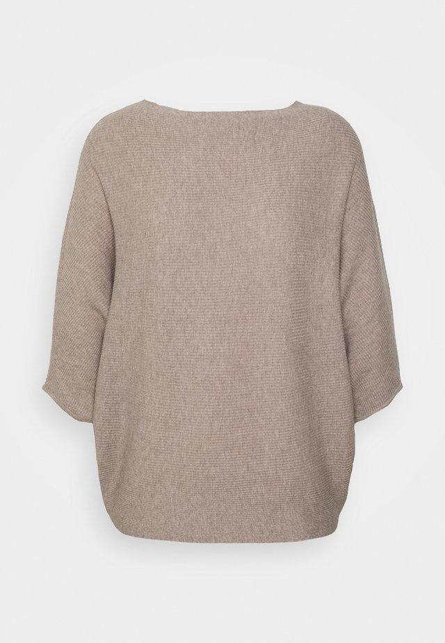 JDYNEW BEHAVE - Sweter - simply taupe melange