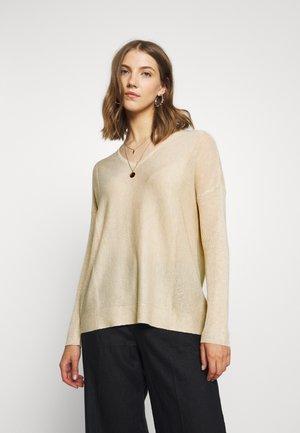 JDYNEWDRUNA  - Stickad tröja - beige