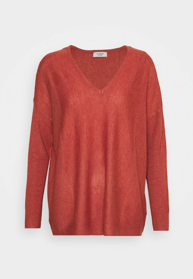 JDYNEWDRUNA  - Strickpullover - red