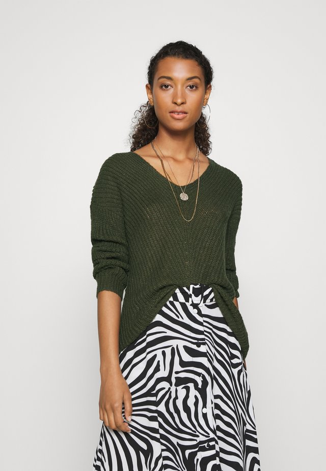 JDYNEW MEGAN - Strickpullover - forest night