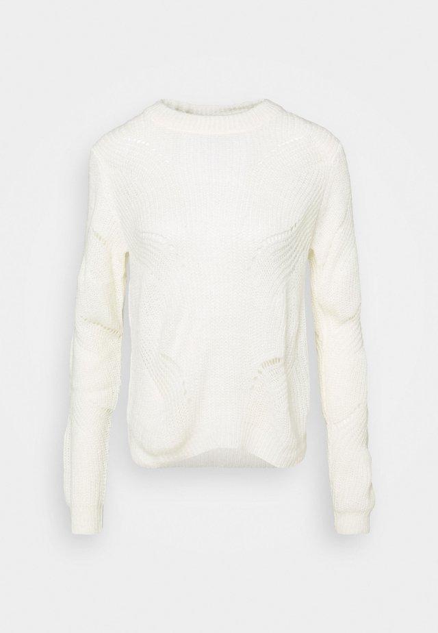 JDYNEWDAISY STRUCTURE - Jersey de punto - white