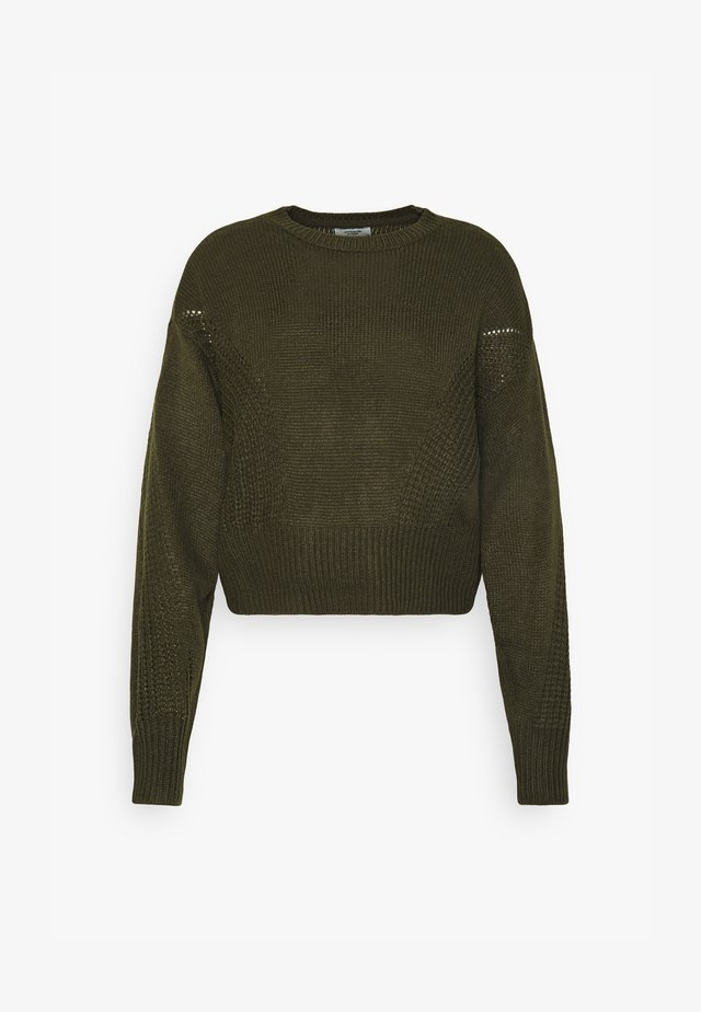 JDYJAYCEY CROP - Strickpullover - deep depths