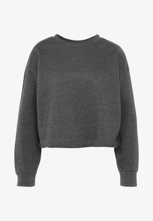 JDYFREYA CROPPED - Sweatshirt - dark grey melange