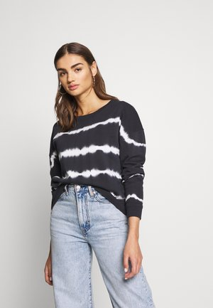 JDYLAILA LIFE DYED - Sweatshirt - black/cloud dancer