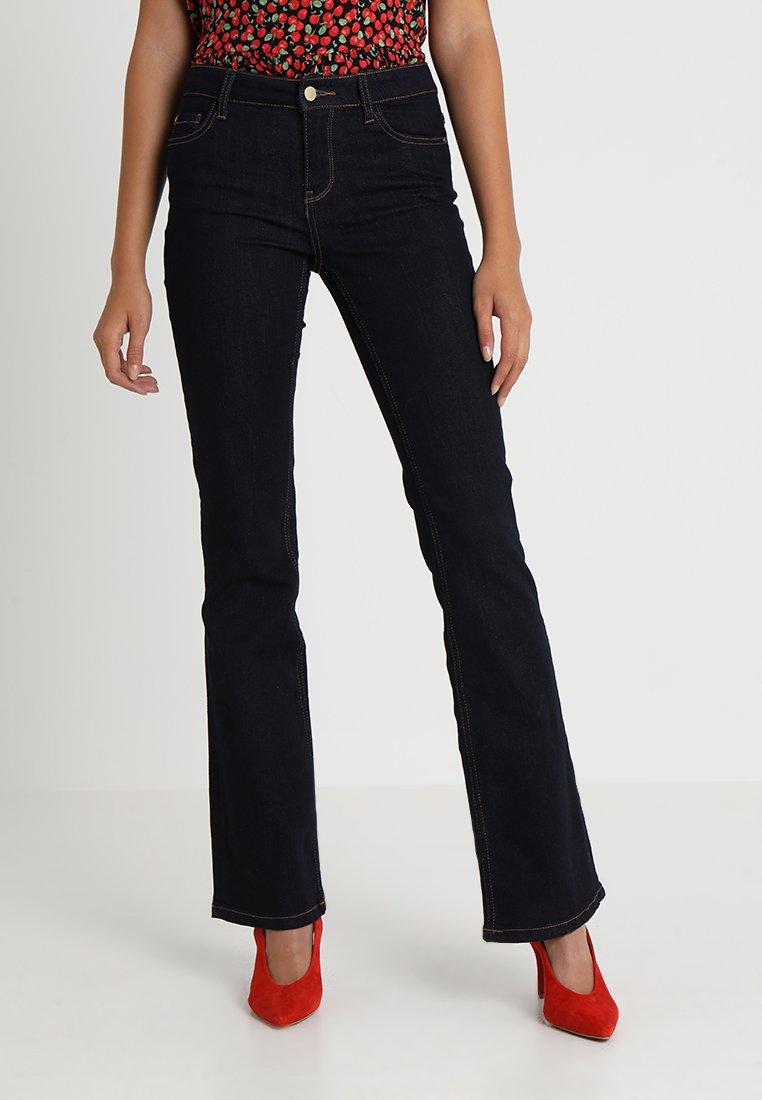 JDY - JDYELIA  - Flared Jeans - dark blue denim