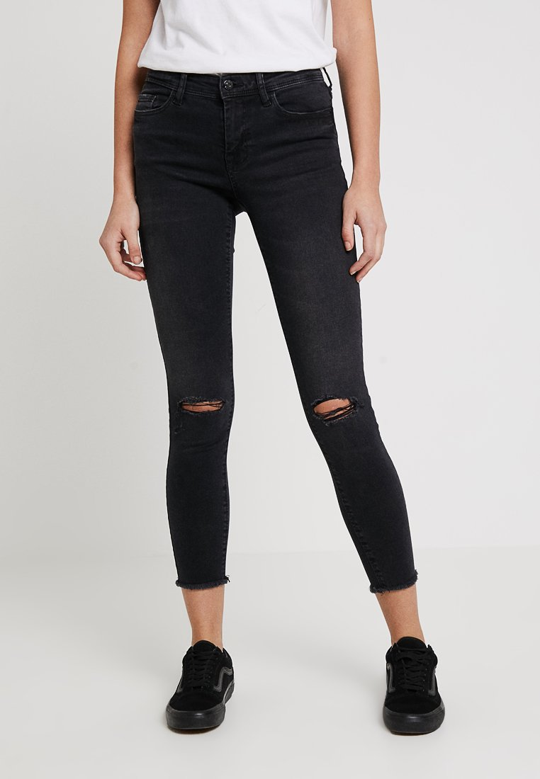 JDY - JDYHANNA WEFT ANKLE - Jeans Skinny Fit - black denim