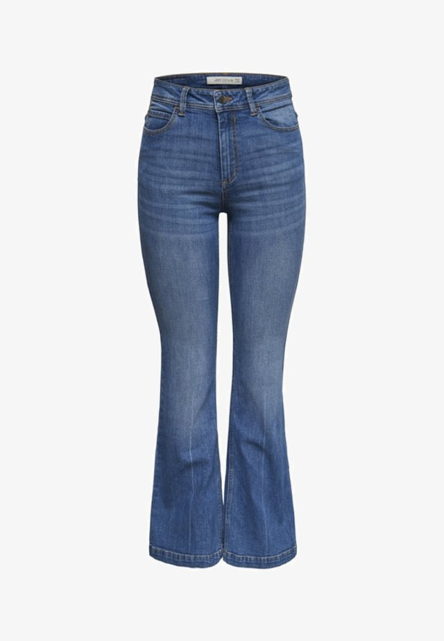 FLORA  - Flared jeans - medium blue denim