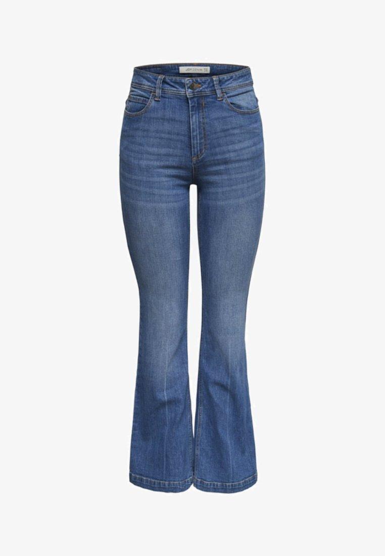 JDY - FLORA  - Flared Jeans - medium blue denim