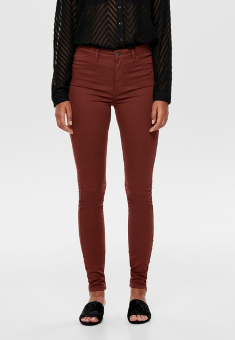 JDY - LARA - Jeans Skinny Fit - brown