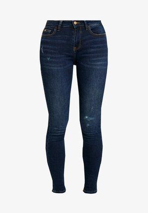 JDYRICA DESTROY - Jeans Skinny Fit - dark blue denim