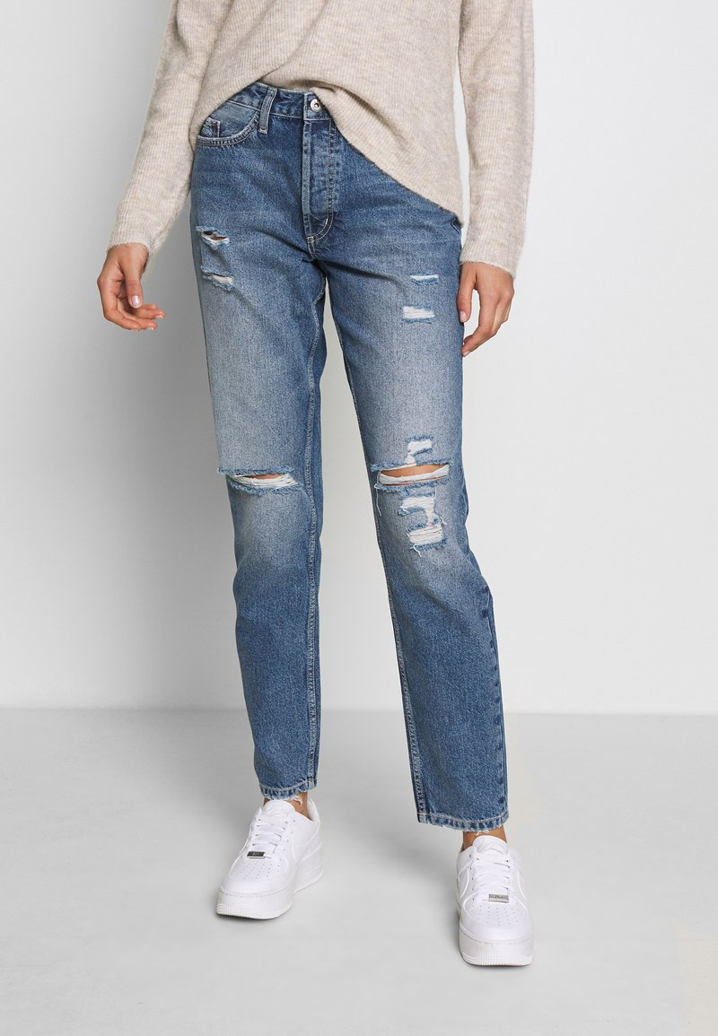 JDY - JDYSELMA - Relaxed fit jeans - medium blue denim