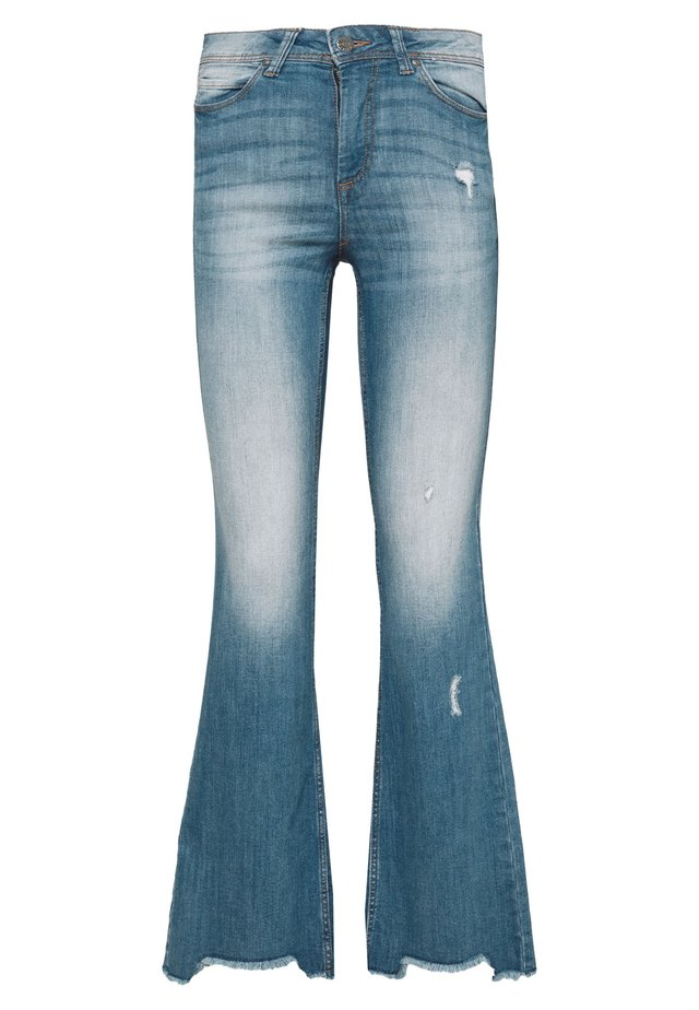 FLORA - Jeans a zampa - medium blue denim