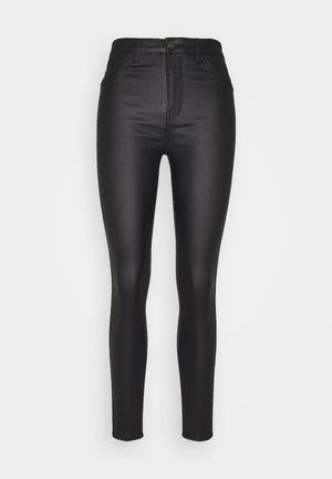 JDYNEWTHUNDER COATED HIGH - Pantalon classique - black