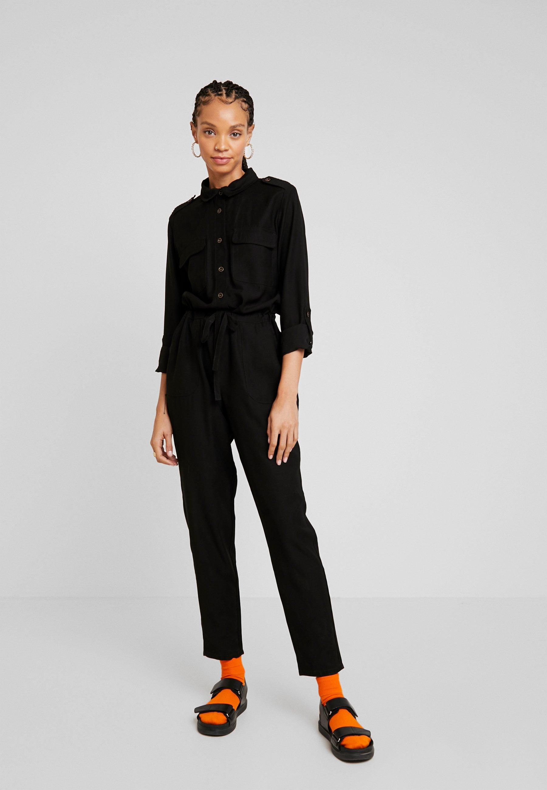 Jdy Jdynelson Boiler Suit - Combinaison Black