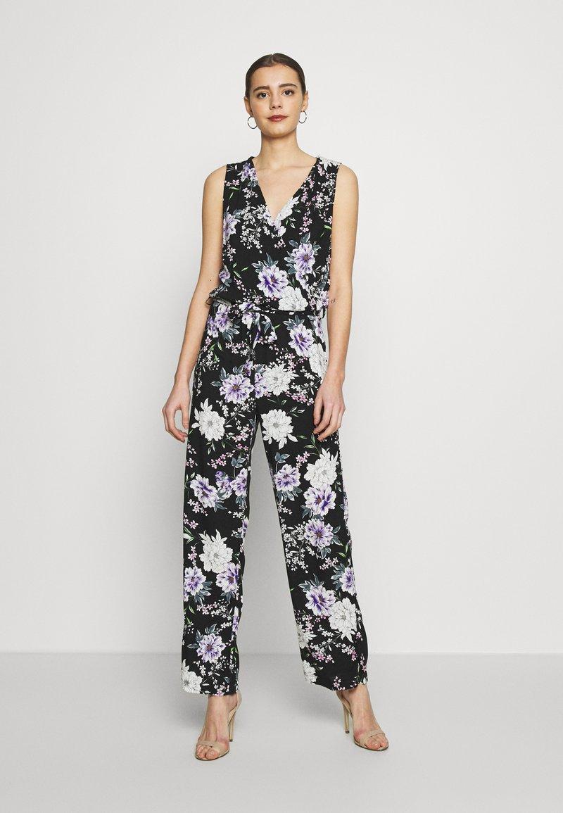JDY - JDYSTARR LIFE  - Jumpsuit - black/rose of sharon flower