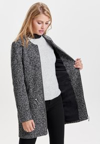 JDY - JDYBESTY ZIP JACKET - Krátký kabát - dark grey melange - 0