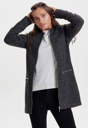 Halflange jas - dark grey melange