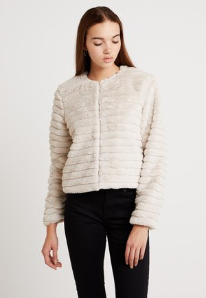 JDYEVEN SHORT FAKE FUR JACKET - Winter jacket - pumice stone