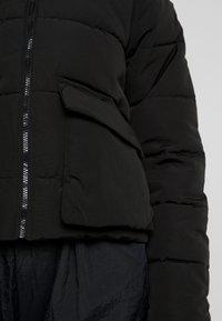 JDY - JDYNALA PADDED HOOD JACKET - Lehká bunda - black - 4