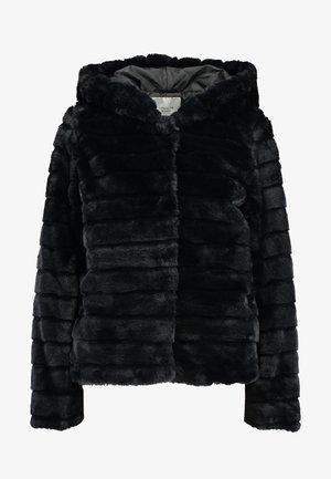 FAUX FUR HOOD JACKET - Veste d'hiver - black