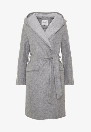 JDYOVIDA LONG HOOD JACKET - Abrigo corto - light grey melange