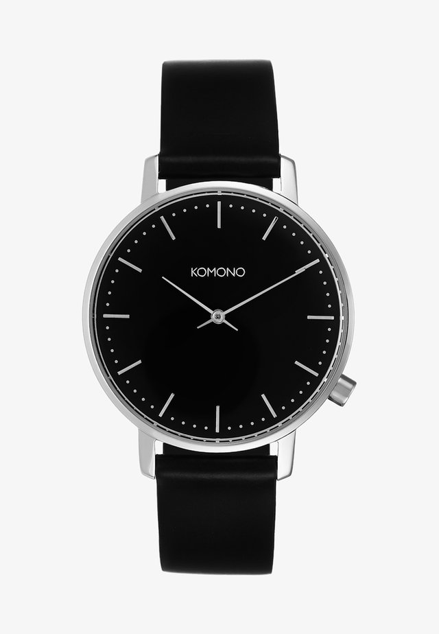 THE HARLOW - Horloge - black/silver-coloured
