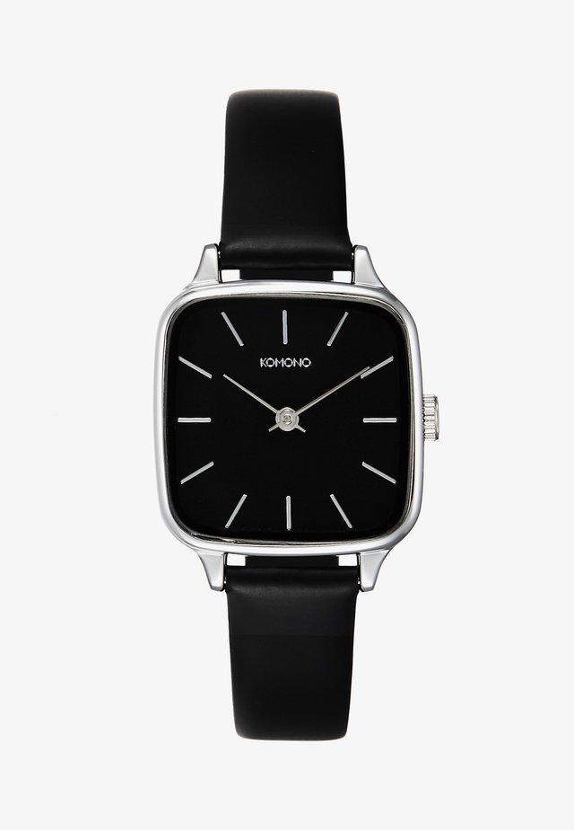 KATE - Horloge - black/silver-coloured