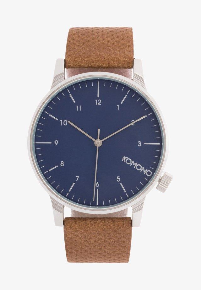WINSTON - Uhr - blue cognac