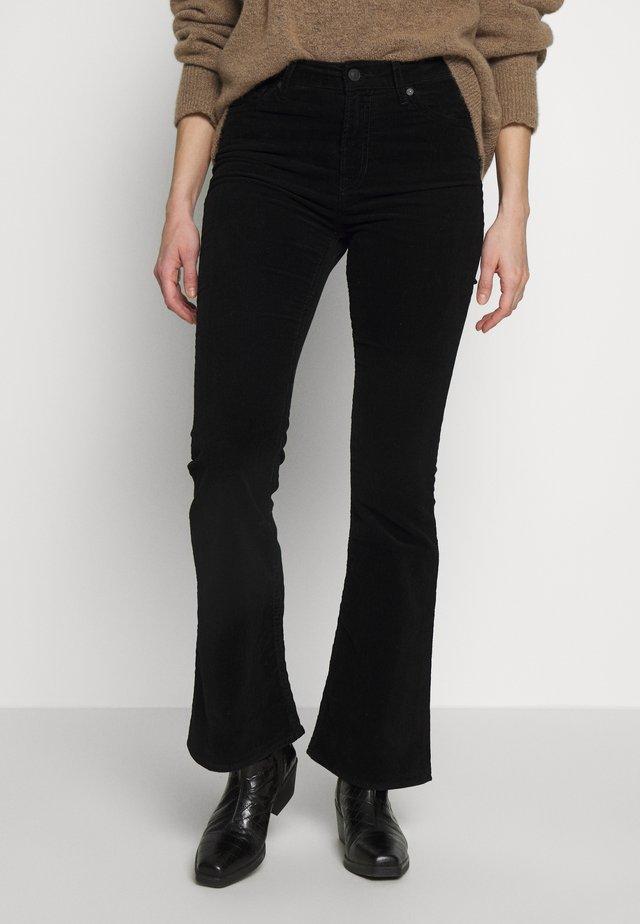 MARIE - Spodnie materiałowe - black