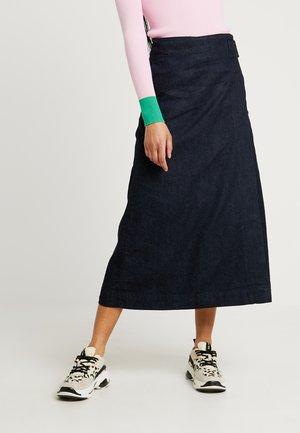 LEIA - Jupe portefeuille - dark-blue denim