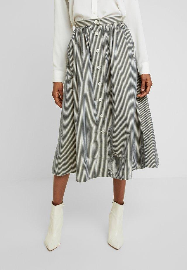 BENTEN - Áčková sukně - grey/beige