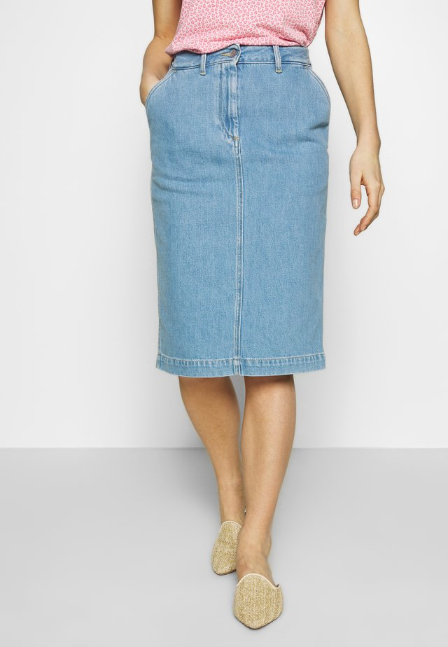 NEFERTITI - Pencil skirt - light shade denim