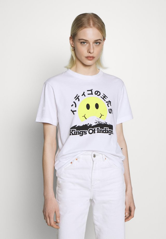 MIRO - T-shirt z nadrukiem - white