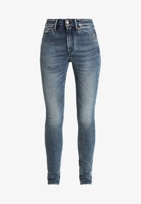Kings Of Indigo - JUNO HIGH - Jeansy Slim Fit - stone blue denim - 4