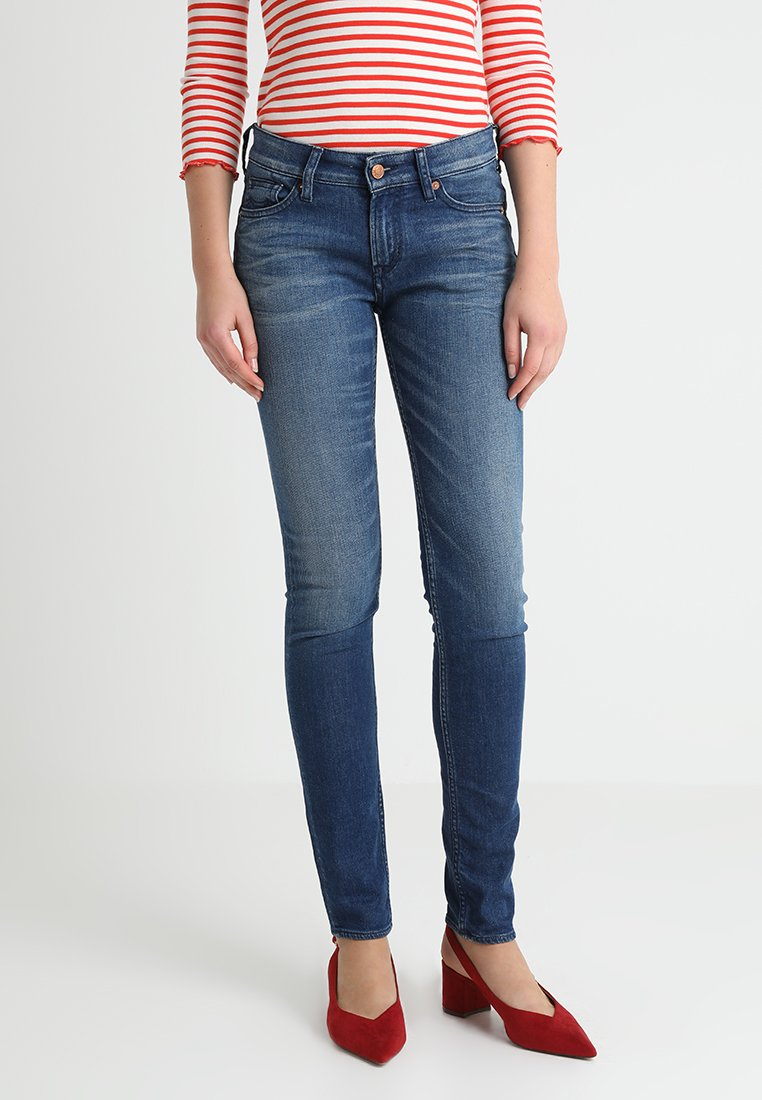 Kings Of Indigo - JUNO - Jeansy Skinny Fit - mid blue