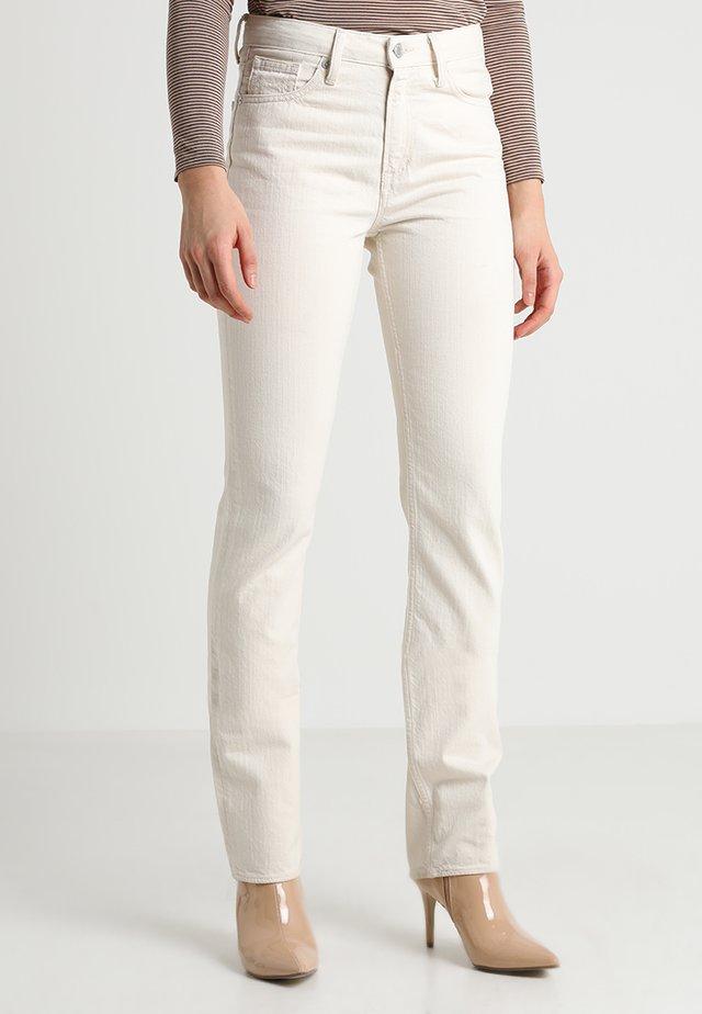 KIMBERLEY - Jeans slim fit - ecru