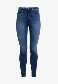 Kings Of Indigo - CHRISTINA HIGH - Jeansy Skinny Fit - dark-blue denim - 5