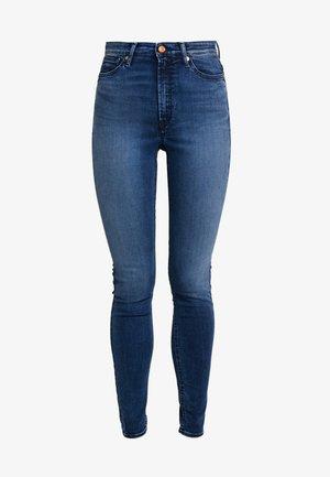 CHRISTINA HIGH - Jeansy Skinny Fit - dark-blue denim