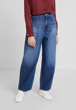 LEILA - Jeansy Relaxed Fit - gleen indigo marble
