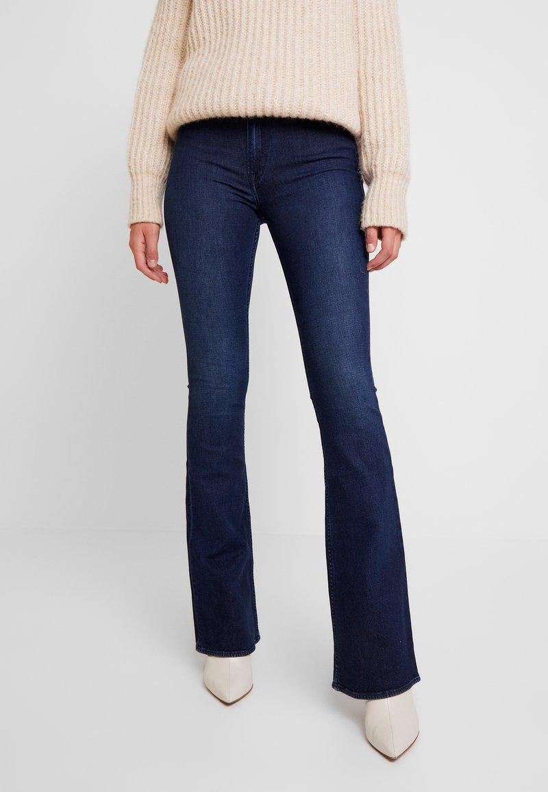 Kings Of Indigo - MARIE - Flared Jeans - dark worn