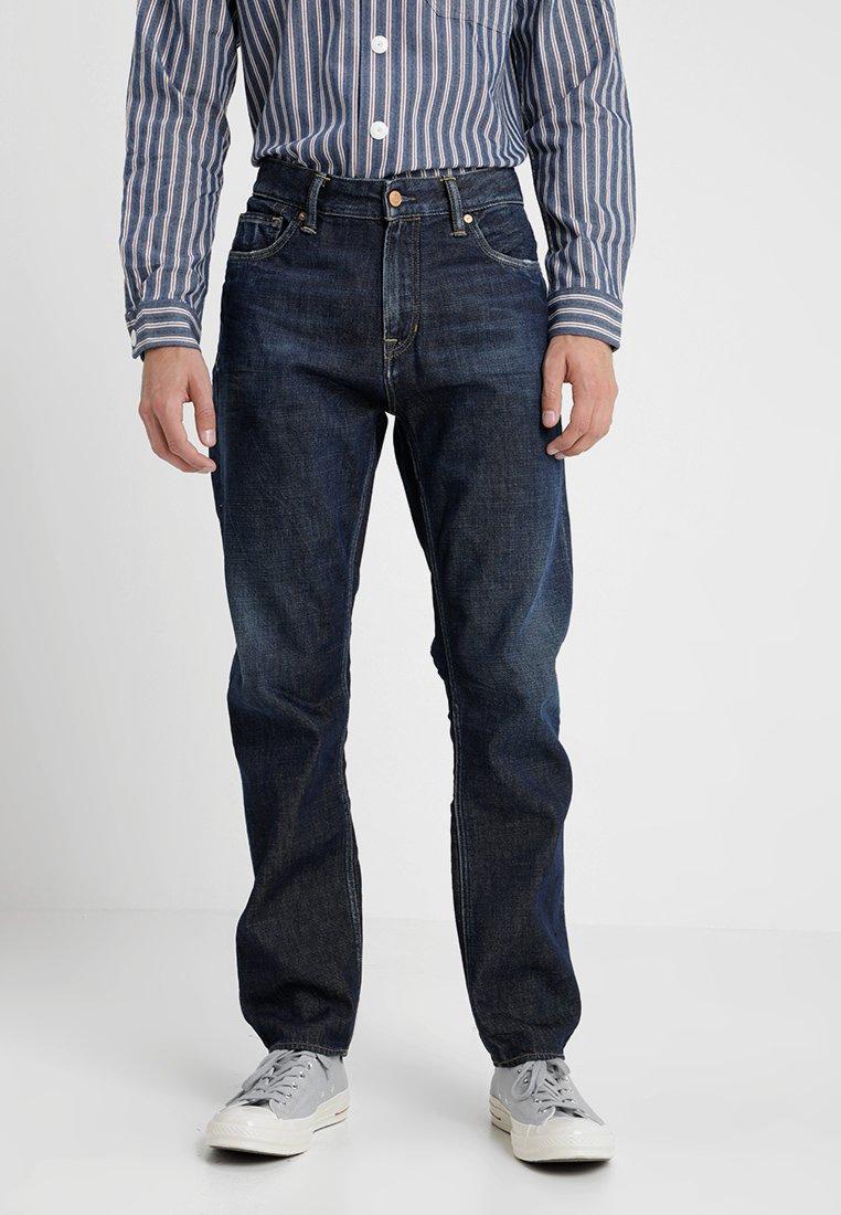 Kings Of Indigo - DANIEL - Jeans Tapered Fit - dark gleen marble