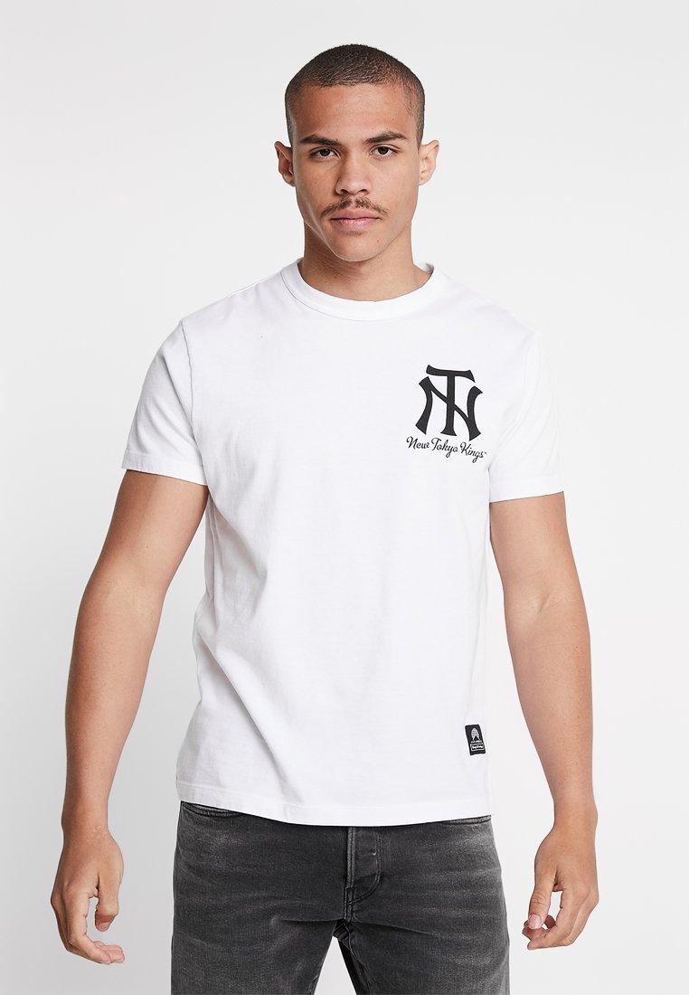 Kings Of Indigo - DARIUS - T-shirt imprimé - white