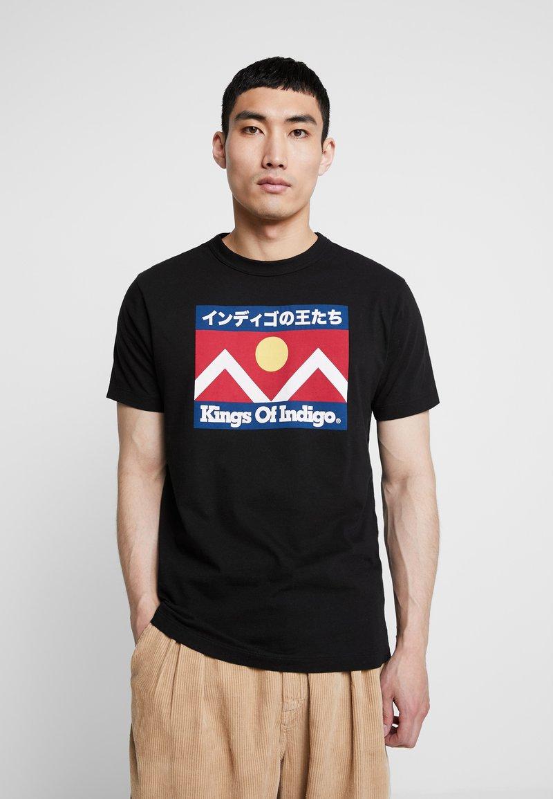 Kings Of Indigo - DARIUS - T-shirt z nadrukiem - black