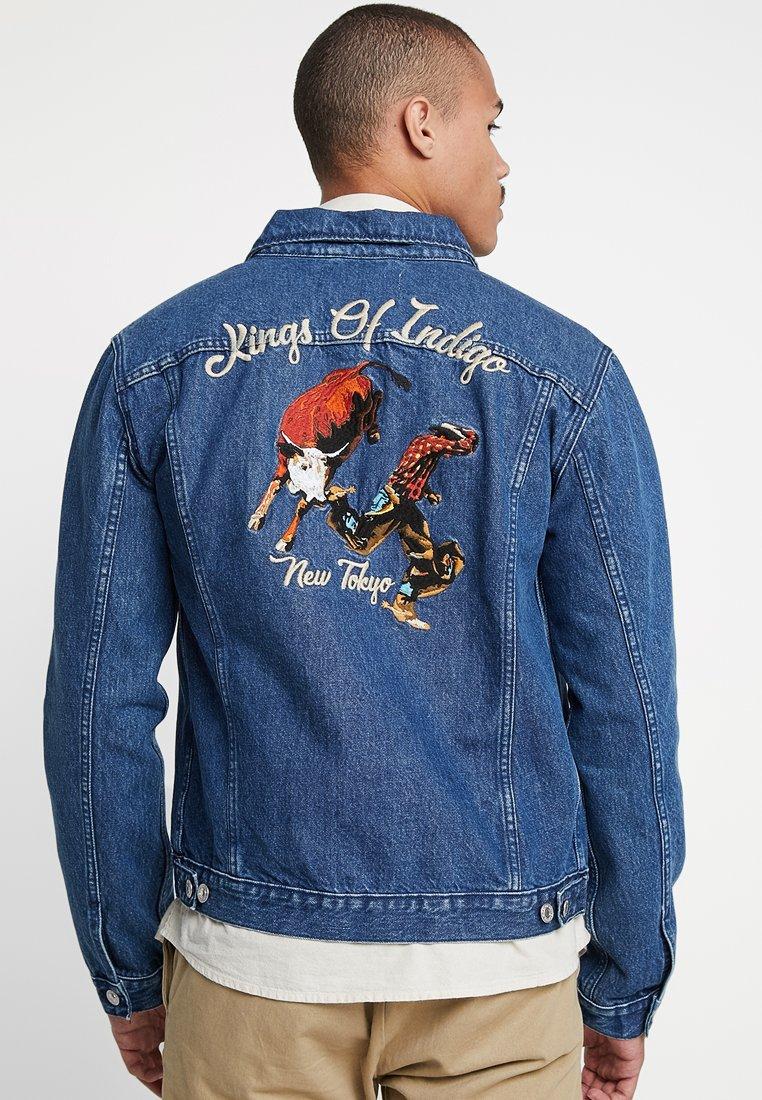 Kings Of Indigo - TILL - Denim jacket - mid marble bull