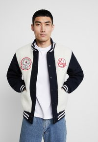 Kings Of Indigo - KAIKA - Kurtka Bomber - navy off white - 0