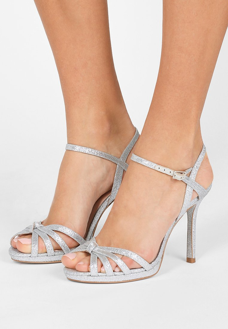 kate spade new york - FLORENCE - Sandalen met hoge hak - silver thin glitter